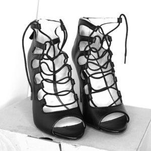 Zara Tie Up Caged Style Heels 36
